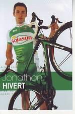 CYCLISME carte cycliste JONATHAN HIVERT équipe SOJASUN 2013