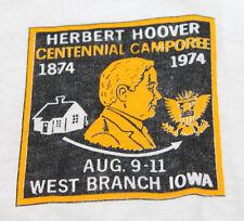 M/L * Nos vtg 70s 1974 Boy Scouts bsa West Branch Iowa t shirt * medium large