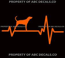 Heart Beat Line Dog Plott Hound North Carolina Adoption Rescue Car Vinyl Decal