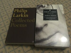 PHILIP LARKIN COLLECTED POEMS & A WRITER'S LIFE BOOKS MINT NEW