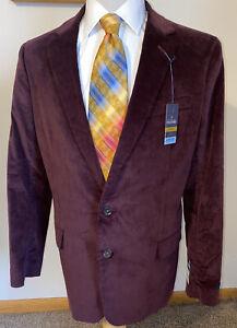 Stafford Men Brown 3-Btn Country CORDUROY Sport Coat CORD Jacket Elbow Patch Pocket Gentleman/'s Shooting Blazer 50 XL