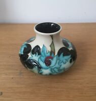 Moorcroft sea holly vase