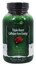 Irwin Naturals Triple-Boost Caffeine-Free Energy Boost for Brain 75 Soft Gels