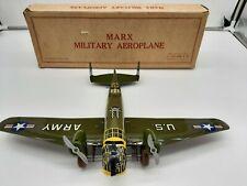 Marx Tin Wind Up Us Army Plane