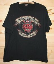 Harley Davidson Motorcycles Sinister Ride Barrie Canada Black T-Shirt Adult XL