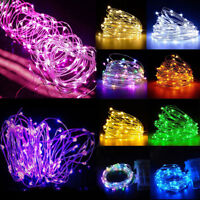 40LED BATTERY OPERATED MICRO SILVER WIRE STRING FAIRY PARTY XMAS WEDDING LIGHTS
