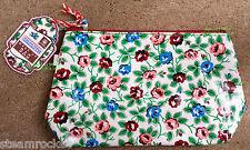 OILCLOTH MAKE UP BAG Rambling Rose Floral DOTCOMGIFTSHOP