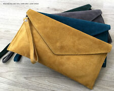 Wedding Clutch Bag Made in Italy Evening Bag Over Size Clutch Bag Suede Prom Bag