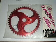 Old mid school NOS 43 Profile red trifan sprocket gear chain wheel bmx bike