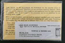 Herald King HO Decal N&W Norfolk & Western Aluminum Piggyback Trailer #Z-50