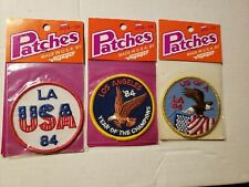 VINTAGE LOT OF 3 VOYAGER PATCHES L.A USA 1984 LOS ANGELES IRON-ON PATCHES PATCH