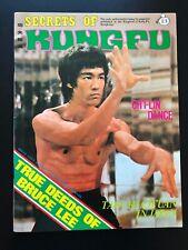 1977 Secrets of Kung Fu Magazine No.3 V. 2 - Bruce Lee Cover Hong Kong, NM