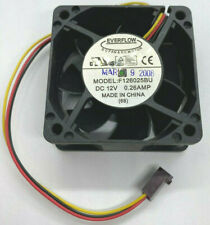 Everflow CoolJag F126025BU DC 12V 0.26A 60mm 3-Pin Server Case Cooling Fan