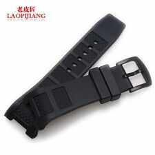 Black Rubber Watch Band Strap for IWC Ingenieur IW323601 W376501 30mm x 16mm