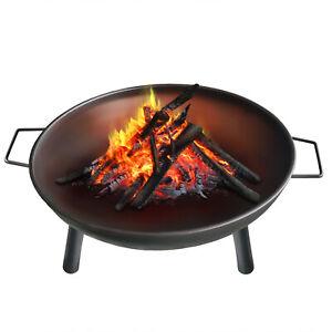 Feuerschale Feuerstelle Feuerkorb Lagerfeuer Metall Ø 58 cm für Garten Terrasse