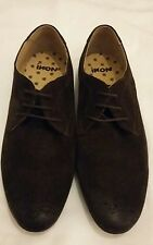IKON Mens Brown Suede Formal Casual Lace Up Shoes Size uk 10 eu 44