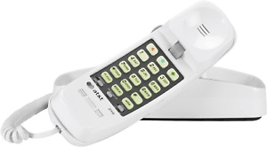 Wall-Mountable Telephones 210WH AT&T 210M Basic Trimline Corded Phone White NEW