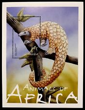 Gambia Wild Animals Stamps S/S 2001 Mnh Wildlife Of Africa Pangolin Nature Fauna