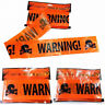 Trendy Plastic Halloween Party Warning Tape Signs Decor Window Prop Decoration