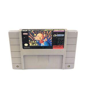 Super Bonk (Super Nintendo Entertainment System, SNES, 1994) Original Authentic