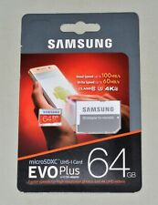 64GB Samsung EVO plus Micro SDHC Card with SD Adapter 95MB/S CLASS 10 UHS-1 New