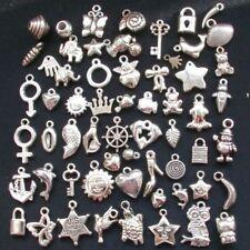 100pcs Wholesale Bulk Lots Silver Mix Plant animal Pendants Charms