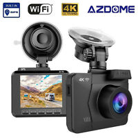 AZDOME 2.4''4K HD Ultra 2160P Wifi Car DVR Dash Camera Cam Video Recorder GPS SD