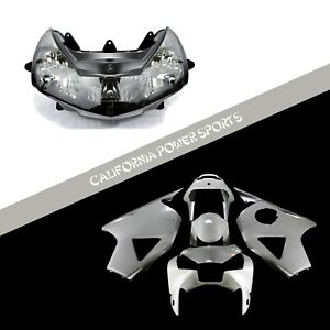 Unpainted Fairing Set Kit + Headlight For Honda 2002 2003 CBR954RR CBR954 RR