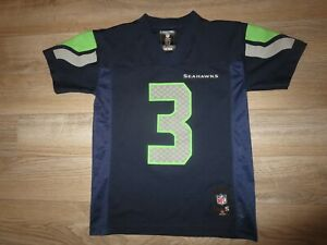 Russell Wilson #3 Seattle Seahawks NFL Reebok Jersey Youth Small 6-8 children