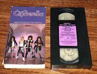 Cinderella Nightsongs The Videos VHS 1987 TOM KIEFFER BON JOVI 80S HAIR ROCK OOP