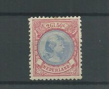 Nederland 47A Wilhelmina 2,5Gld MH/ongebr   CV 650 €
