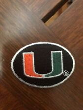 (5) LOT NCAA MIAMI HURRICANES IRON ON PATCHS 1 3/4 INCH