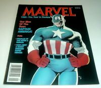 Marvel 1990 The Year in Review Magazine ~ Captain America Cover