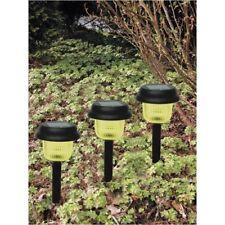 LED Solar Lampen 3er Set Solarleuchte Beleuchtung Außen Licht Lampe Gartendeko