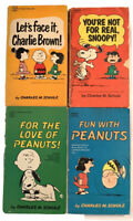 Lot of 4 Charlie Brown Snoopy Peanuts Books - Vintage - Paperback - Schulz