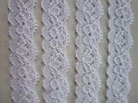 10 Meter Spitze elastisch weiß 1.5cm breit Borte 0734 N