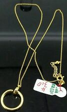 GoldNMore: 18K Gold Necklace and Pendant adjustable chain