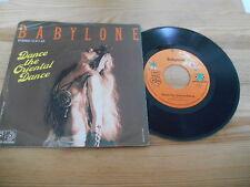 """7"""" Pop Babylone - Dance The Oriental Dance (2 Song) JUPITER / Gabriel Yared"""
