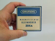 VINTAGE NEW IN THE BOX ANTIQUE GRUNDIG TRANSISTOR RADIO OLD EARPHONE WITH CASE