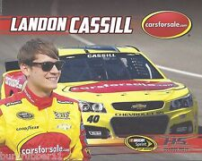 "2015 LANDON CASSILL ""CARS FOR SALE"" #40 NASCAR SPRINT CUP SERIES POSTCARD"