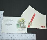 1987 TWA Menu Card Destination Paris Trans World Airlines Stationary Envelope
