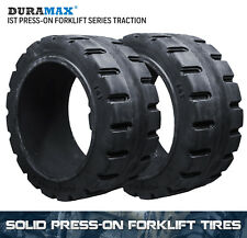 18x6x12-1/8 Duramax IST Traction Solid Press On Forklift Tire (2 Tires)