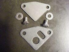 1970-1992 SBC Raw Steel EGR Block Off Delete Plate w/Gasket and Hardware