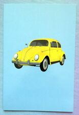 ♡ FREE POST YELLOW VW V DUB VOLKSWAGON LOVE BUG CARD BIRTHDAY ANY OCCASION