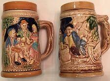 German Inspired Beer Steins Ceramic Vintage Japan Lot of 2 EUC
