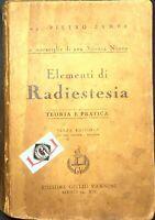 ELEMENTI di RADIESTESIA Pietro Zampa Teoria e Pratica Ed. Giulio Vannini 1941