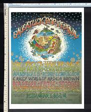 ROCK ART Post Card Concert Poster (rp); 1969 Saugatuck MI Pop Festival July 4-5