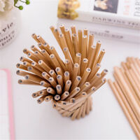 10Pcs Wood Pencil Natural Pens Children School Stationery Office Writing Supplie