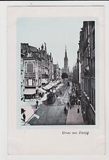 Gruss aus Danzig (Free City of Danzig),Langgasse,Now Gdansk,Poland.c.1920s