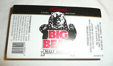 Lot of Unused Beer Labels - Hamms BIG BEAR Malt Liquor Pabst Brewing Tumwater WA